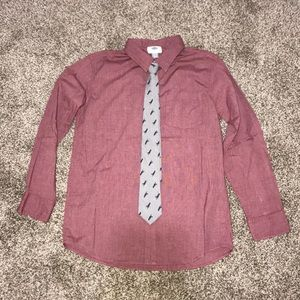 Old Navy, button down shirt with real tie